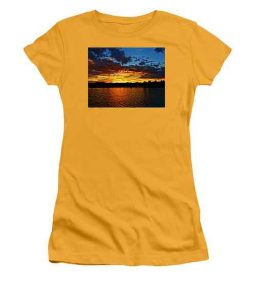 Women's T-Shirt (Junior Cut) featuring the photograph Sweet End Of Day by Eric Dee