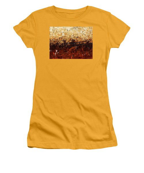 Women's T-Shirt (Junior Cut) featuring the painting Symphony by Carmen Guedez