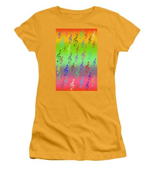 Symphony Of Colors Women's T-Shirt (Junior Cut) by Angel Jesus De la Fuente