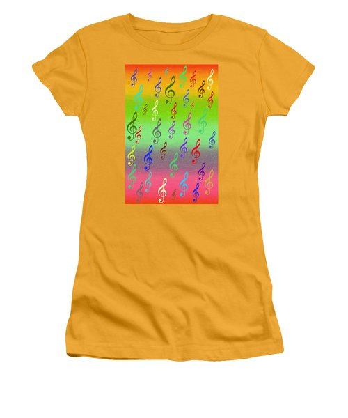Symphony Of Colors Women's T-Shirt (Athletic Fit)
