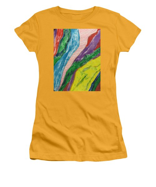 Artwork On T-shirt - 0010 Women's T-Shirt (Athletic Fit)