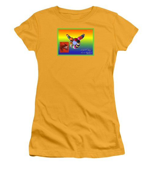 Women's T-Shirt (Junior Cut) featuring the painting Taurus by The Art of Alice Terrill