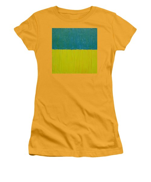 Teal Olive Women's T-Shirt (Athletic Fit)