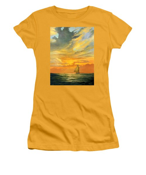 Ten Thousand Islands Women's T-Shirt (Athletic Fit)