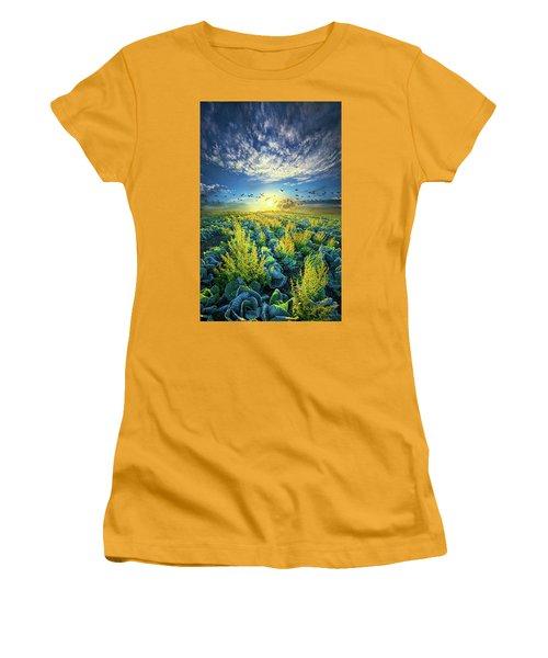 That Voices Never Shared Women's T-Shirt (Junior Cut) by Phil Koch