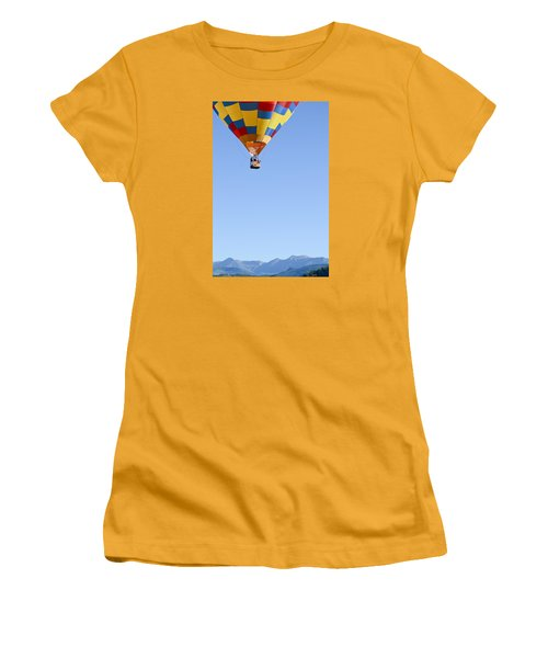Women's T-Shirt (Junior Cut) featuring the photograph The Air Up There... by Kevin Munro