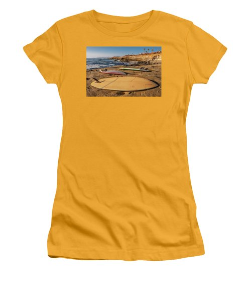 The Boards Women's T-Shirt (Junior Cut) by Peter Tellone