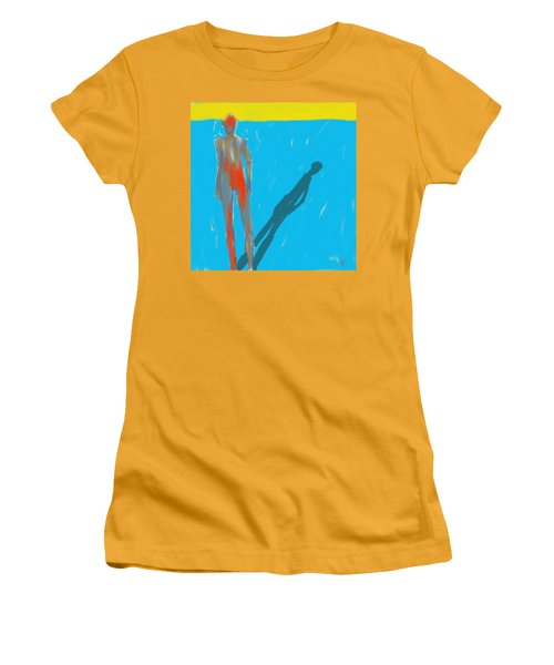 Women's T-Shirt (Junior Cut) featuring the painting The Cast Shadow by Jim Vance