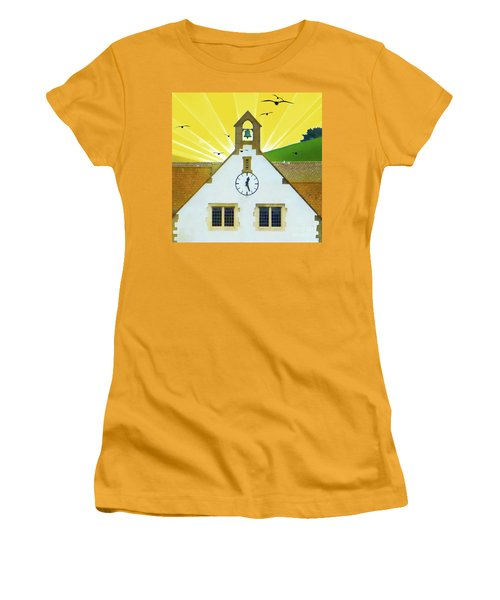 Women's T-Shirt (Athletic Fit) featuring the photograph The Church Bell by LemonArt Photography