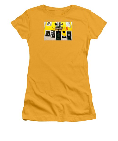 Women's T-Shirt (Junior Cut) featuring the photograph The Colorful Bar by Marwan Khoury