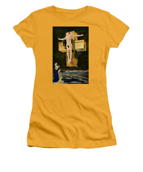 The Father Is Present -after Dali- Women's T-Shirt (Junior Cut) by Ryan Demaree