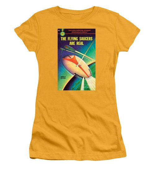 The Flying Saucers Are Real Women's T-Shirt (Junior Cut) by Frank Tinsley