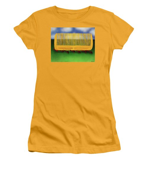 The Great Escape Women's T-Shirt (Junior Cut) by Thomas Blood