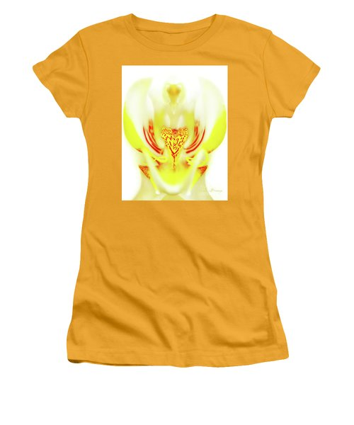 Women's T-Shirt (Junior Cut) featuring the photograph The Heart Of An Alien-orchid by Jennie Breeze