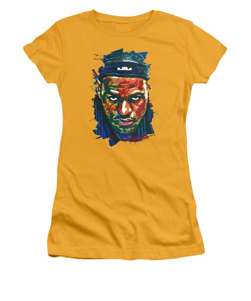 The Lebron Death Stare Women's T-Shirt (Junior Cut) by Maria Arango