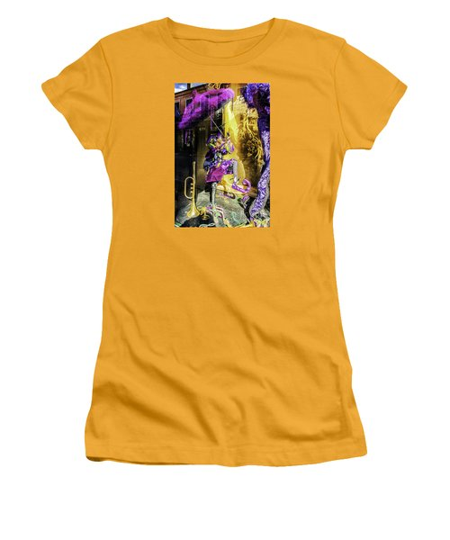 The Mardi Gras Jester Women's T-Shirt (Athletic Fit)