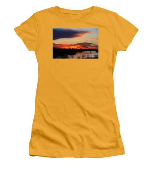 The Other Side Of The Bridge  Women's T-Shirt (Junior Cut) by Yumi Johnson