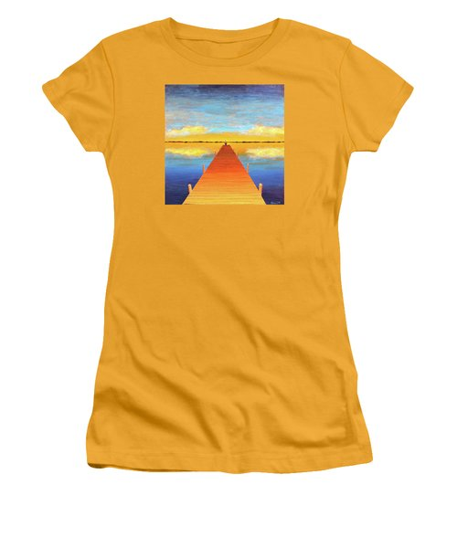 The Pier Women's T-Shirt (Junior Cut) by Thomas Blood
