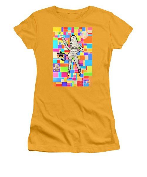 The Rebel Women's T-Shirt (Junior Cut) by Jeremy Aiyadurai