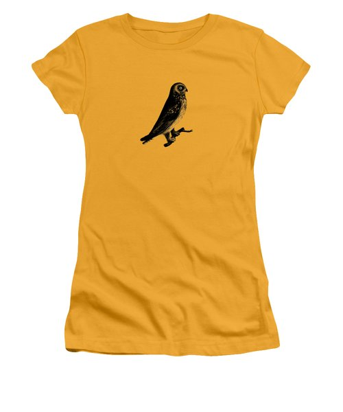 The Short Eared Owl Women's T-Shirt (Junior Cut) by Mark Rogan