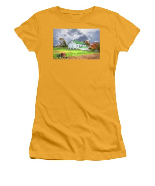 Women's T-Shirt (Junior Cut) featuring the digital art The Storms Coming by Sharon Batdorf