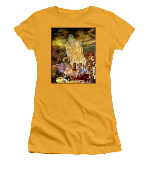 Women's T-Shirt (Junior Cut) featuring the painting The Valley Of Sphinks by Henryk Gorecki