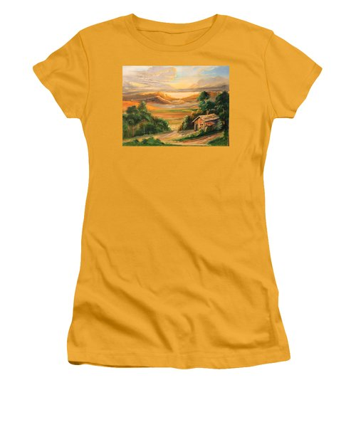 The Warmth Of Sunset Women's T-Shirt (Athletic Fit)