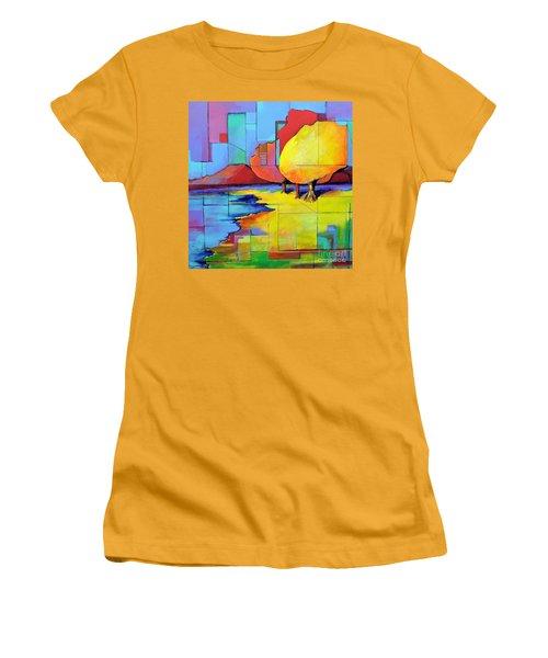 The Yellow Tree Women's T-Shirt (Junior Cut) by Jodie Marie Anne Richardson Traugott          aka jm-ART
