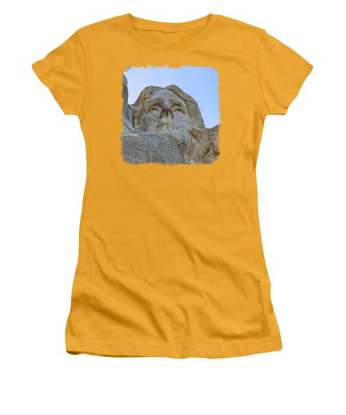 Thomas Jefferson 3 Women's T-Shirt (Junior Cut) by John M Bailey