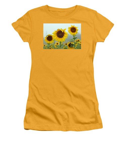 Three Amigos In A Field Women's T-Shirt (Junior Cut) by Karen McKenzie McAdoo
