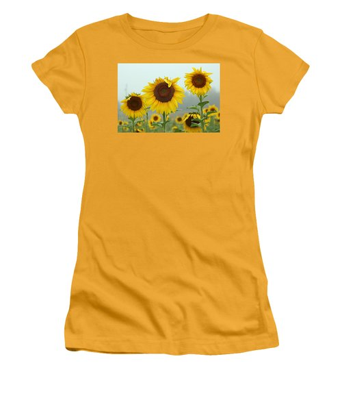 Three Amigos In A Field Women's T-Shirt (Athletic Fit)