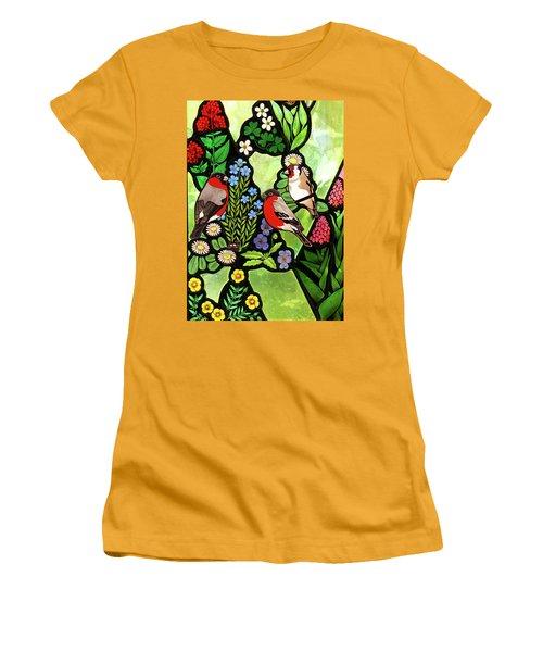 Women's T-Shirt (Junior Cut) featuring the photograph Three Company by Munir Alawi