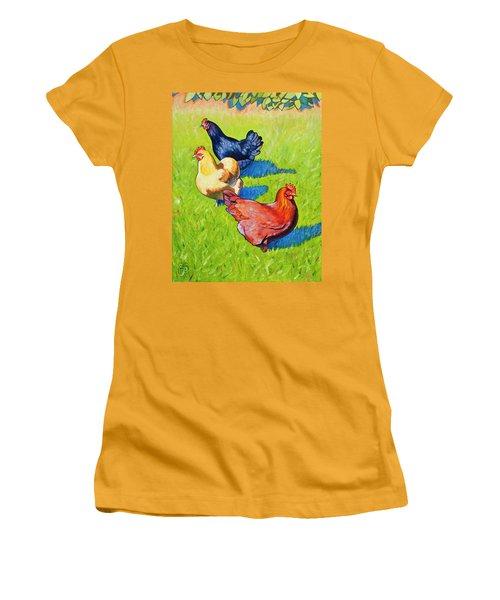Three Girls Women's T-Shirt (Athletic Fit)