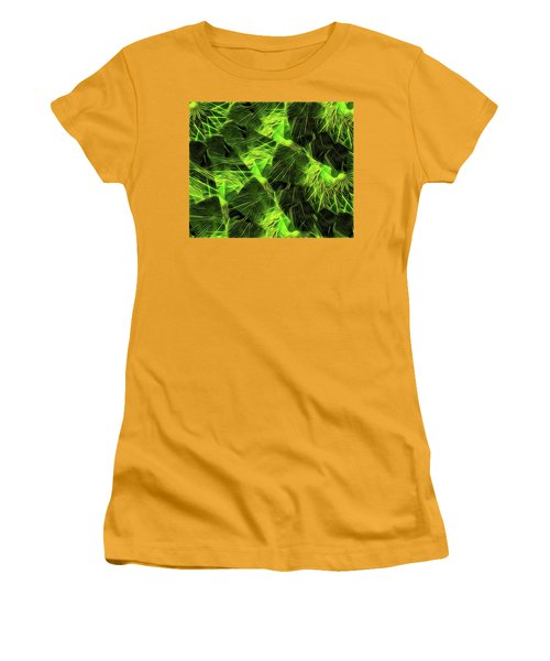 Women's T-Shirt (Junior Cut) featuring the digital art Threshed Green by Ron Bissett