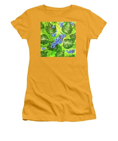 Women's T-Shirt (Junior Cut) featuring the painting Through The Vines by Cynthia Morgan