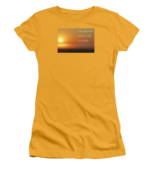 Women's T-Shirt (Junior Cut) featuring the photograph Time Adusted by David Norman