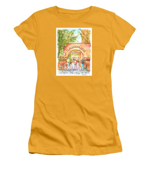 Tlaquepaque Gallery In Sedona, Arizona Women's T-Shirt (Junior Cut) by Carlos G Groppa