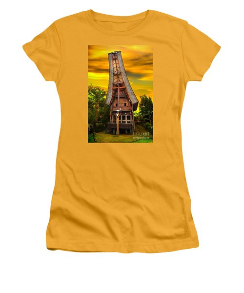 Women's T-Shirt (Junior Cut) featuring the photograph Toraja Architecture by Charuhas Images