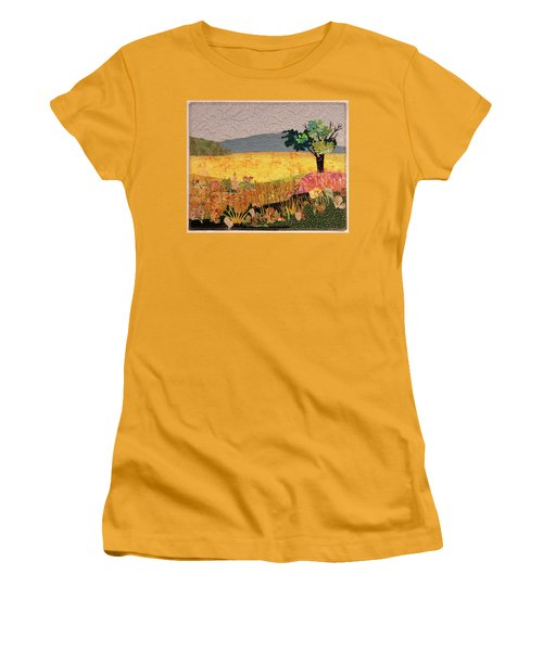 Touch Of Goldenrod Women's T-Shirt (Athletic Fit)