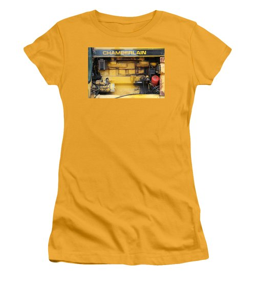 Women's T-Shirt (Athletic Fit) featuring the photograph Tractor Engine Iv by Stephen Mitchell