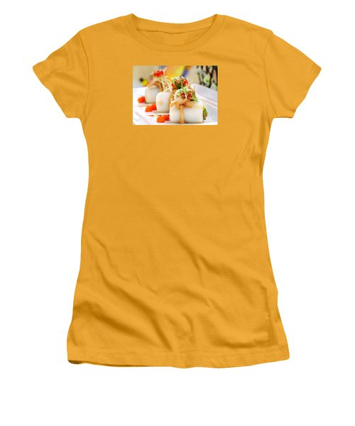 Traditional Chinese Hakka Rice Noodle Roll Women's T-Shirt (Junior Cut) by Yali Shi