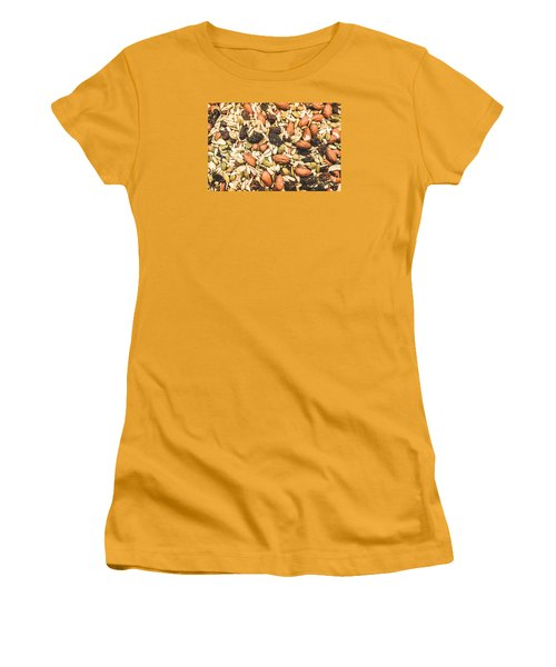 Women's T-Shirt (Athletic Fit) featuring the photograph Trail Mix Background by Jorgo Photography - Wall Art Gallery