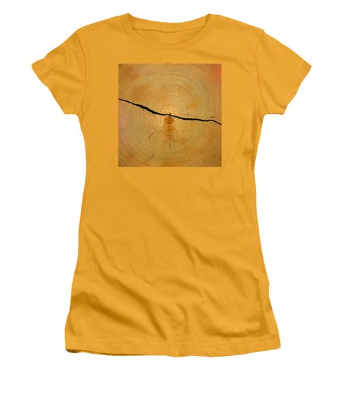 Tree Rings Women's T-Shirt (Athletic Fit)