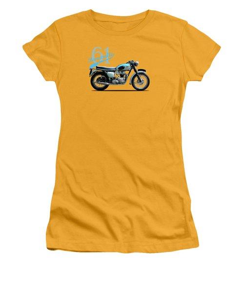 Triumph Bonneville 1961 Women's T-Shirt (Junior Cut) by Mark Rogan
