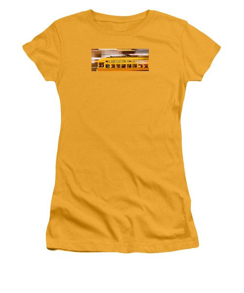 Women's T-Shirt (Junior Cut) featuring the photograph Trolley 1052 On The Move by Steve Siri