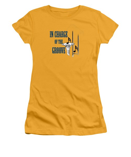 Trombones In Charge Of The Groove 5533.02 Women's T-Shirt (Junior Cut) by M K  Miller