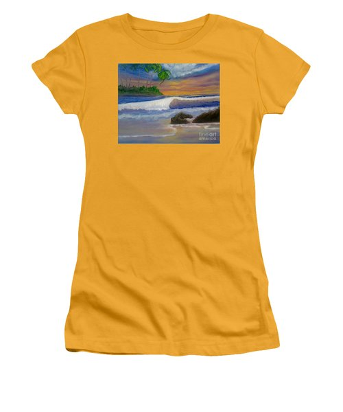 Women's T-Shirt (Junior Cut) featuring the painting Tropical Dream by Holly Martinson