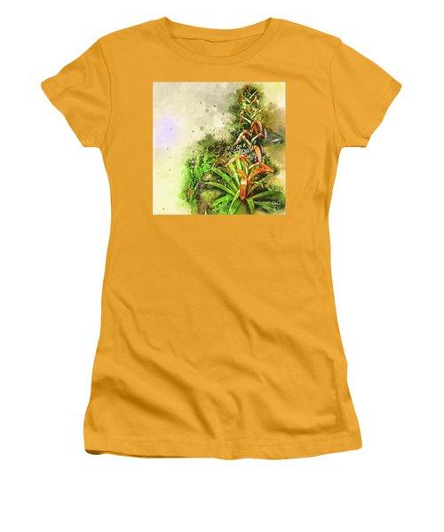 Tropical Orange Women's T-Shirt (Junior Cut) by Deborah Nakano