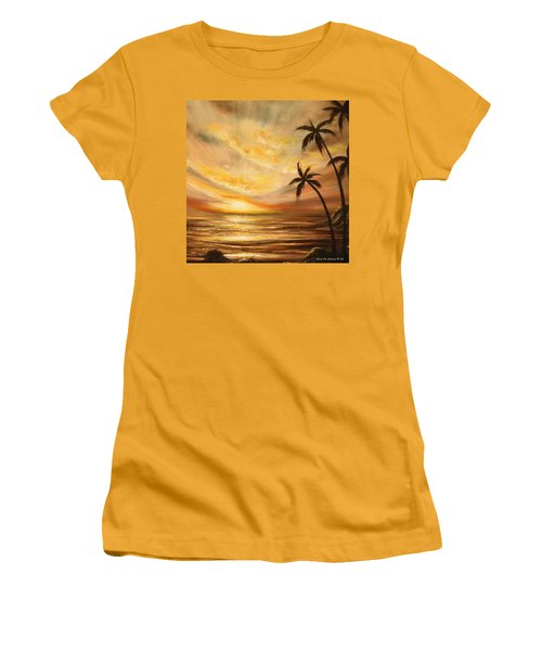 Tropical Sunset 64 Women's T-Shirt (Athletic Fit)