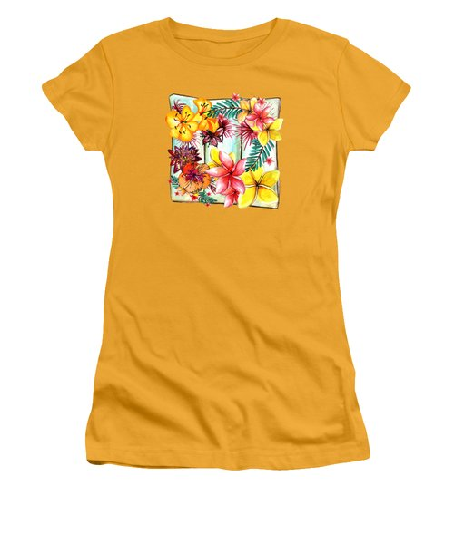 Tropicana By Kaye Menner Women's T-Shirt (Athletic Fit)